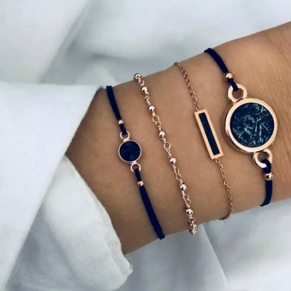Coming Soon✨ Set of 4 Black Boho Bracelets